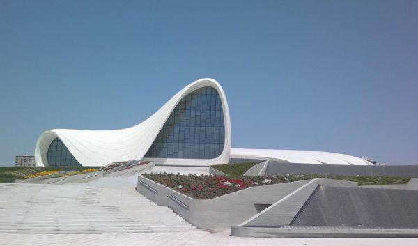 Heydar Aliyev Cultural Centre in Baku, Azerbaijan. Wikipedia.