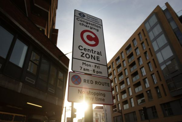 London's congestion pricing scheme. (Oli Scarff/Getty Images)