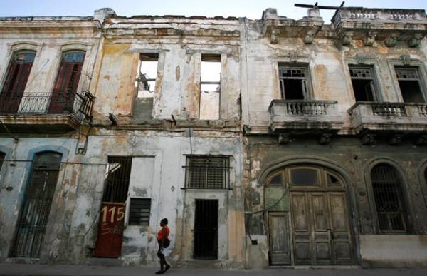 A street in Havana before restoration. Picture Claudia Daut Reuters
