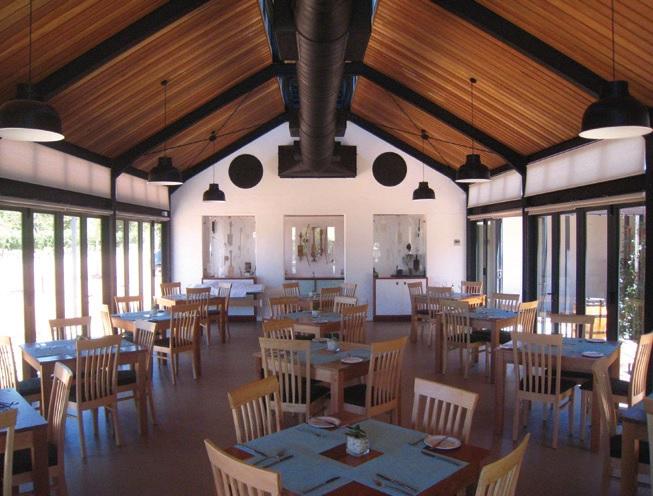 Interior of new restaurant, 2014