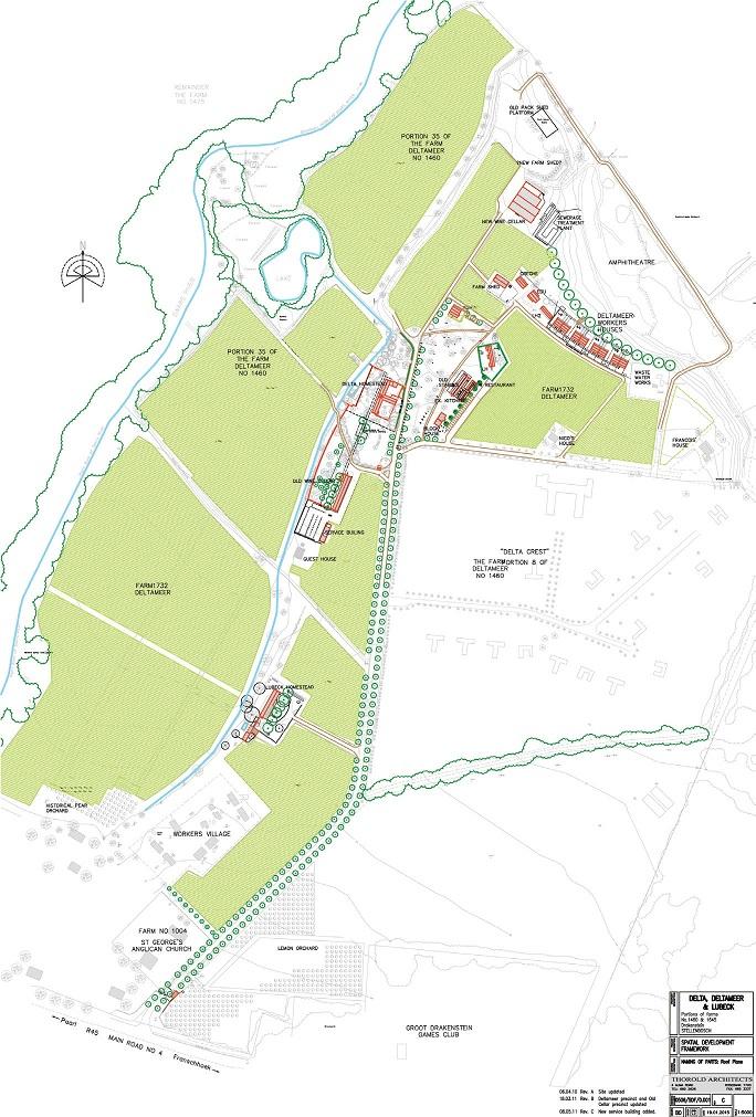 Solms-Delta Estate site plan, 2015