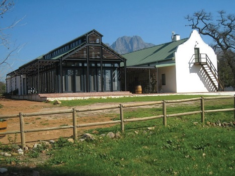 Restored stable buildings and new restaurant from the NE
