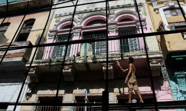 Renovations in Havana Old Town. Picture. Reuters