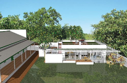 3D View from the garden